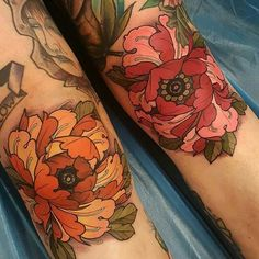 """ Double Peo-knees tattoo by @elliottwells666 at Triplesix Studios in Sunderland, UK"