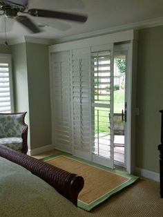 Sliding Glass Door Shutters Design Ideas, Pictures, Remodel, and Decor