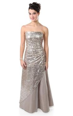 3dc8bc4b53a long strapless prom dress with glitter