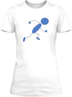 Running Man White T-Shirt Front