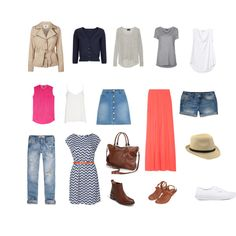 """Perfect Capsule Travel wardrobe"" - Perfect for Summer in Europe"