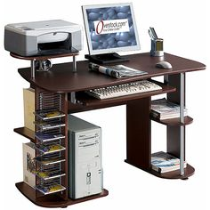 Deluxe All-in-one Computer Desk Workstation - Overstock Shopping - Great Deals on Desks