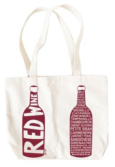 Happy Mother's Day to My Wine Lover Mother:  Red Wine Double Wine Tote at Uncommon Goods
