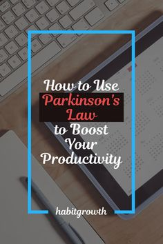 If you want to manage your time better, you need to understand Parkinson's Law and know how to use it to your advantage. Effective Time Management, Time Management Strategies, Time Management Skills, Parkinson's Law, Productivity Apps, Areas Of Life, Focus On Your Goals, School Psychology, Back Home