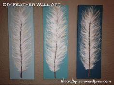 Diy feather canvas