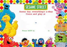 Free Printable Sesame Street Birthday Invitation