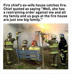 fire chiefs ex wife's house burns funny memes