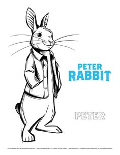 Peter Rabbit Movie Poster To Color - Peter Rabbit Coloring Pages For Children Creation Coloring Pages, Farm Coloring Pages, Minion Coloring Pages, Space Coloring Pages, Coloring Sheets For Kids, Printable Coloring Pages, Coloring Books, Salvador, Peter Rabbit Movie
