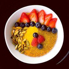 Bowl oats chia mango