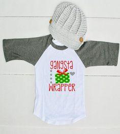 Gangsta Wrapper Shirt for Boys - Funny Boy Christmas Shirt - Gangster Wrapper Christmas Shirt - Funny Toddler Christmas Shirt for Boys