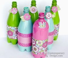 So have a look at these 20 Handmade DIY plastic bottles ideas. Just grab some empty plastic bottles, a pair of scissors, some paint to get the home decor ideas Plastic Bottle Flowers, Plastic Bottle Crafts, Diy Bottle, Recycle Plastic Bottles, Plastic Recycling, Crafts To Do, Diy Craft Projects, Diy Crafts For Kids, Craft Ideas