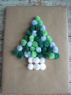 Gift Wrap Ideas: Let kids do this for cousins and g-parents.