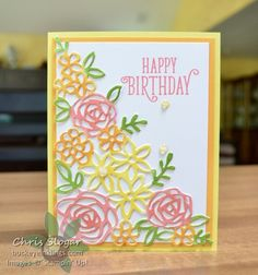 Springtime Impressions Thinlit from the Garden Impressions Suite, and gorgeous new colors!! Stampin' Up!