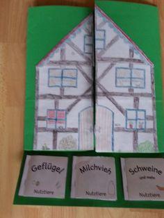krabbelwiese: Gastautorin: Lapbook Bauernhof Science, Woodland Party, Holiday Cocktails, Farm Animals, Kindergarten, Teaching, Education, Holiday Decor, Blog