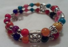 'Beautiful Tibet Silver Colorful Bracelet' is going up for auction at 11pm Sat, Feb 16 with a starting bid of $2.
