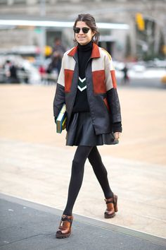New York Fashion Week, Fall/Winter 2014-2015 -Leandra Medine in Prada shoes - outfit - streetstyle