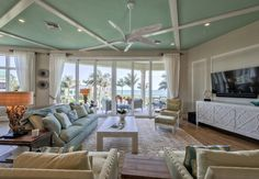 coastal living room | Calusa Construction