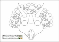Dinosaur masks - colour in or print out the colour version