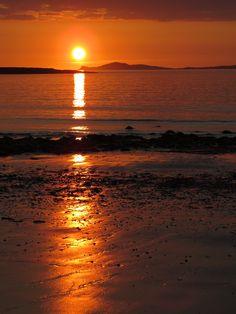 Sunset at Sellerna Beach Cleggan Co. Galway Ireland [OC] [3000x4000]