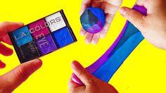 DIY SLIME WITH EYESHADOW MAKE-UP CHALLENGE! How To Make Slime without Bo...