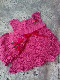 """Летний сарафан и панамка """"Нарядные-2""""ручной работы - розовый,сарафан для девочки"""