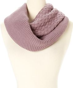 Brown Multi-Knit Infinity Scarf by modern centers trade #zulily #zulilyfinds