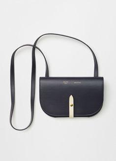 Small Trotteur Shoulder Bag in White Grained Calfskin - C¨¦line | i ...