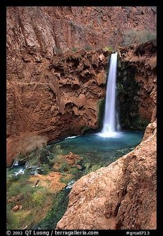 Mooney Falls. Grand Canyon National Park, Arizona,
