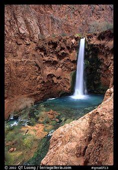 Mooney Falls. Grand Canyon National Park, Arizona,