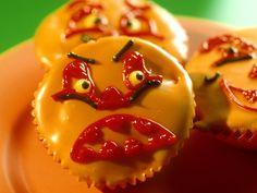 Süße Kürbis-Muffins für Halloween: Rezept auf for me Eat Smarter, Cooking Recipes, Pudding, Stuffed Peppers, Vegetables, Desserts, Halloween Foods, Cupcake, Germany