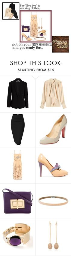 """Put on your throw-and-go dress and get ready for happy hour!"" by jomax ❤ liked on Polyvore featuring Vince Camuto, Joseph, Christian Louboutin, Moschino, Tom Ford, Athleta, Delfina Delettrez, Georg Jensen, WorkWear and happyhour"