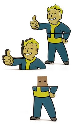 Once a week our creative team gets together and has a little fun. Last week we were discussing interesting ideas for custom shaped flash drives and the topic of video game characters came up.   A couple of the guys mentioned they were really excited for the new Fallout 4 coming out, so we stayed up late last week messing around with molds and made a few of these Vault Boy USB Flash Drives. Just an example of what we can do. Hope you like it!