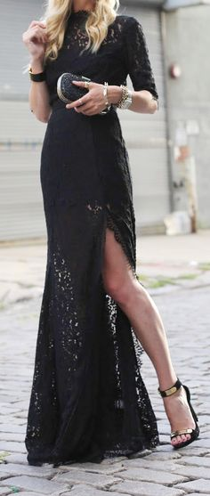 Elegant black lace gown . . . just need a reason to wear it :)