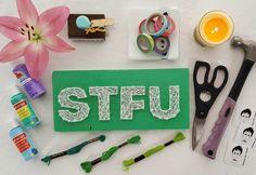 STFU Shut the Fck Up String Art FREE by StressedOutStudios on Etsy