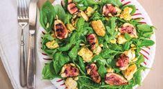 Charred Fig and Rocket Salad with Lemon Tofu Feta | Veganuary