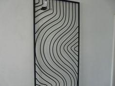 "modern outdoor metal wall art | Metal Wall Art ""Swerves in a Rectangle Frame"" on eBid United Kingdom"