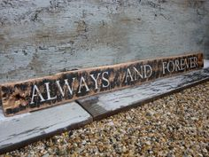 Rustic Wedding Gift Distressed Always and Forever Wood Wedding Sign by TheUnpolishedBarn