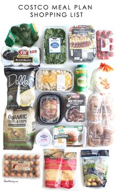 Costco meal plan shopping list