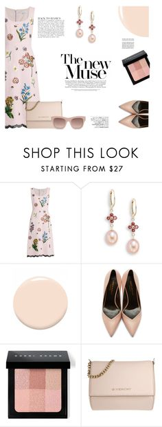 """""""Andrew Gn Dress"""" by katsin90 ❤ liked on Polyvore featuring Andrew Gn, Saks Fifth Avenue, Christian Dior, Yves Saint Laurent, Bobbi Brown Cosmetics, Avenue, Anja, Givenchy, STELLA McCARTNEY and Pink"""