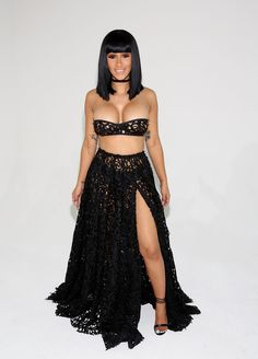 Cardi B left little to the imagination at the Laquan Smith Presentation September2016
