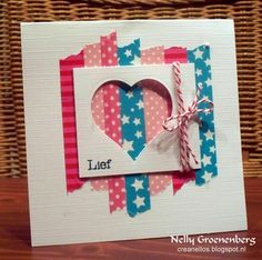 Crea Nellos - Washi Tape card idea, Valentine