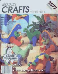 Prehistoric Pets Sewing Pattern by McCall's Crafts 2577 I Digg Dinosaurs by McCall's Pattern Co.,http://www.amazon.com/dp/B001UB50HQ/ref=cm_sw_r_pi_dp_KO6Tsb119F73F0BF