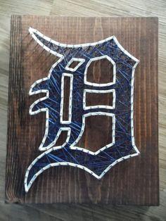 Baseball String Art Detroit Tigers String Art by kreationsbykac