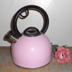 Vintage Tea Kettle Pink Copco Metal Pink Tea Kettle by TheBackShak