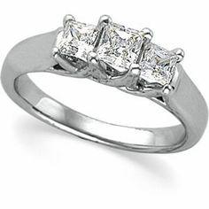 Platinum 7/8 Ct Tw 3 Stone Princess Cut Diamond Engagement or Anniversary Ring (H/VS2) with GIA Certificate (Jewelry)  http://documentaries.me.uk/other.php?p=B001XZJ1VU  B001XZJ1VU