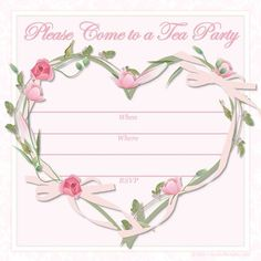 Free High Tea Party Invitation Templates Mother and Daughter Tea