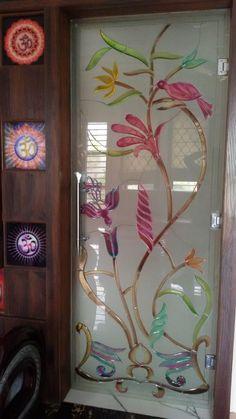 56 Ideas Glass Sliding Door Design Kitchens For 2019 Pooja Room Design, Sliding Glass Door, Door Design, Glass Painting Designs, Window Glass Design, Door Glass Design, Glass Design, Pooja Room Door Design, Sliding Door Design