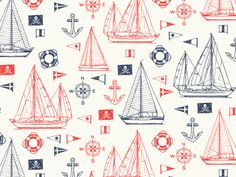 Cole Haan Sailboat Pattern by Wesley Eggebrecht