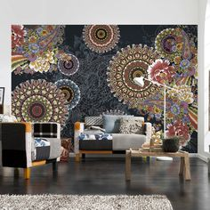 145 Corro Wall Mural - This is really pretty.  May be the way to go in lieu of wallpaper or my trying to paint designs?!