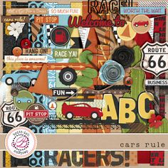 Cars Rule  This kit would be perfect for the pictures from Art of Animation!